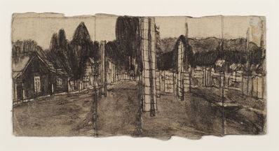 James Castle, 'Untitled (Landscape with totem)'