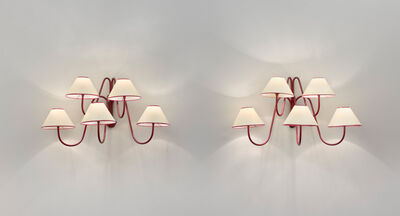 """Jean Royère, 'Pair of 5 arm """"bouquet"""" wall lights', ca. 1957"""