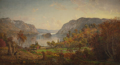 Jasper Francis Cropsey, 'On the River', 1883