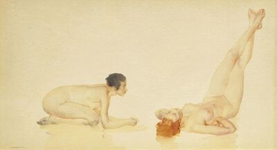 William Russell Flint, 'Two nudes'