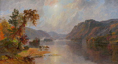 Jasper Francis Cropsey, 'In the Narrows of Lake George', 1887