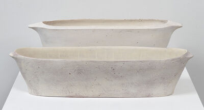 Maggie Finlayson, 'Oval Trough and Oval Trough with Rim', 2016