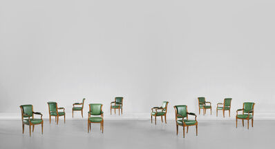 Sir Edwin Lutyens, 'Important set of ten 'Board Room' chairs, designed for the Midland Bank Limited, New Head Offices, Poultry, London', 1924-1939