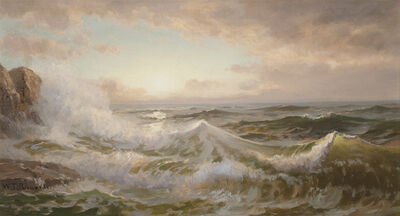 William Trost Richards, 'Coastal Storm ', Late 19th century