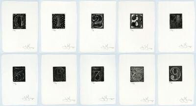 Jasper Johns, '0-9, A Set of 10 Numerals (ULAE 156-165)', 1975
