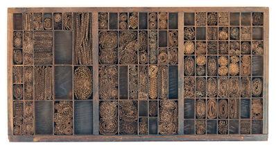 Verónica Vázquez, 'Cajón tipográfico con cartón', 2010
