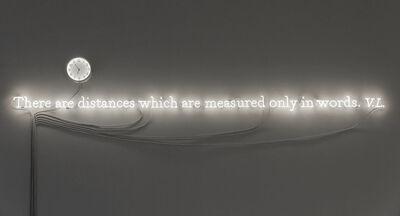 Joseph Kosuth, ''Existential time #03'', 2019