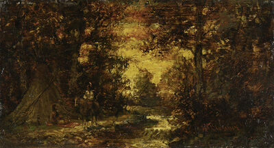Ralph Albert Blakelock, 'Teepee at Sunset', Late 19th century