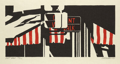 Robert Cottingham, 'Don't Walk', 1991