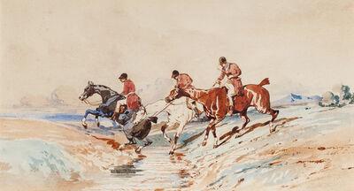 Alfred De Dreux, 'Le passage du gué'