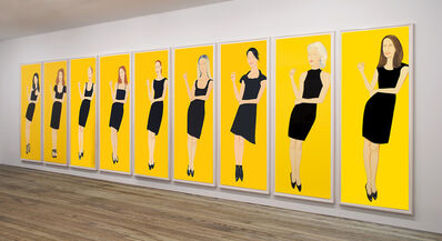 Alex Katz, 'Black Dress, series of 9', 2015