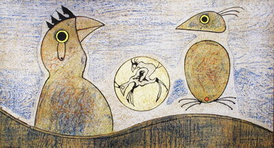 Max Ernst, 'Composition in Ochre and Blue', 1975
