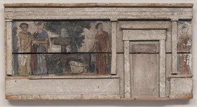 Joaquín Torres-García, 'Tres figuras junto a una fuente y arquitectura', 1926