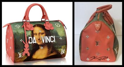 Jeff Koons, 'Hand Signed Mona Lisa Leonardo da Vinci Bag for Louis Vuitton', 2017