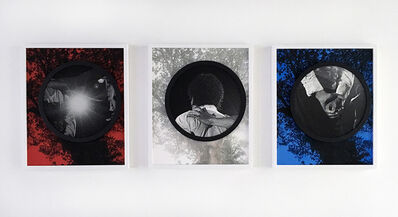 Todd Gray, 'Welcome to Planet Earth (red, white and blue) (triptych) 欢迎来地球(红、白、蓝)', 2015