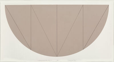 Robert Mangold, '1/2 Brown Curved Area, Series V', 1968