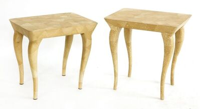 R & Y Augousti, 'A pair of scumbled occasional tables'
