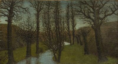 André Bauchant, 'Sous-bois en hiver', 1925