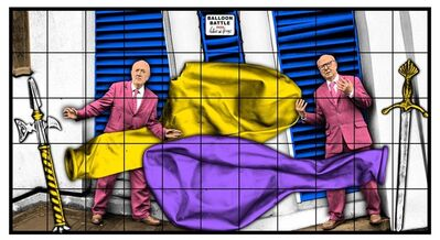 Gilbert and George, 'BALLOON BATTLE', 2020
