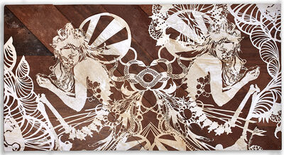 Swoon, 'Miss Rockaway (Mirrored)',