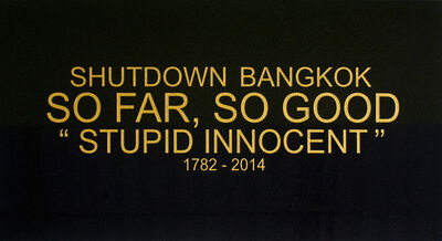 Montri Toembosmbat, 'Shutdown Bangkok - Black Granite series', 2015