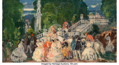 Gifford Beal, 'Fete and Afternoon Ride (double-sided work)'