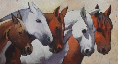 Efren Gonzalez, '5 Caballos (Dos Blancos)'