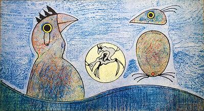 Max Ernst, 'Oiseaux (blue background)', 1970