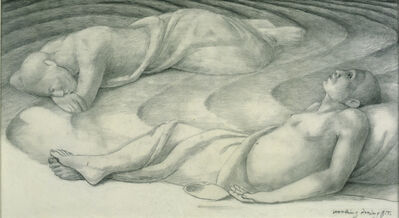 "George Tooker, 'Study for ""Sleepers IV"" ', 1978"
