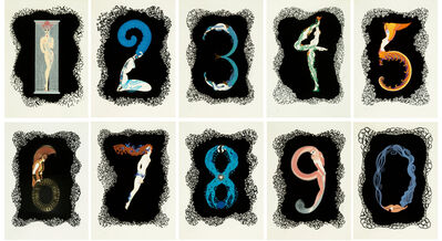 Erté (Romain de Tirtoff), 'Numbers Suite', 1980