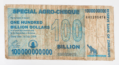 Dan Halter, 'Special Agro Cheque 100 Billion Dollars', 2020