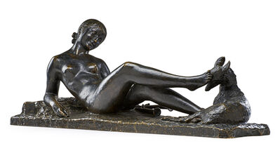 "Ary Bitter, 'Large Art Deco sculpture, ""Chloé,"" France'"
