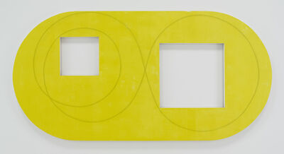 Robert Mangold (b.1937), 'Two Open Squares Within a Yellow Area', 2016