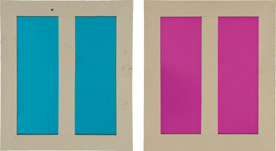 Ugo Rondinone, 'Two works: (i) Clockwork for Oracles (Aqua); (ii) Clockwork for Oracles (Magenta)', 2002