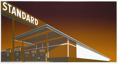 Ed Ruscha, 'Mocha Standard Station', 1969