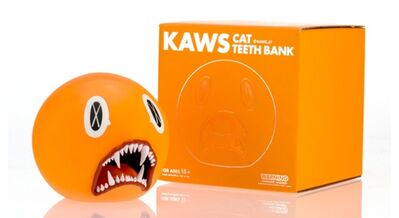 KAWS, 'Cat Teeth Bank (Orange) in original box', 2007