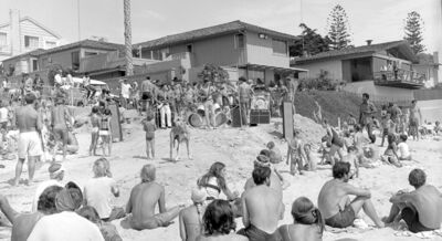 Roy Porello, 'Beach Concert, Sea Lane, La Jolla', 1968