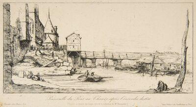Charles Meryon, 'Passerelle du Pont-au-Change, Paris, après l'incendie de 1621', 1860