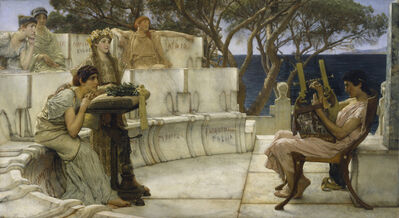Sir Lawrence Alma-Tadema, 'Sappho and Alcaeus', 1881