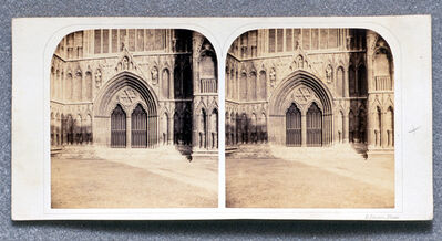 Roger Fenton, 'York Minster, The West Door', ca. 1860