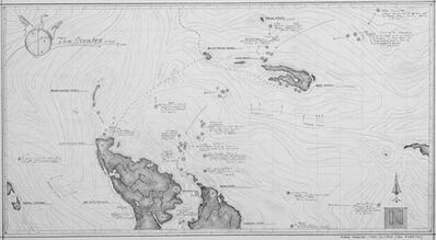 Ethan Murrow, 'A Whale Sounding Map Submitted as Evidence During Peer Review', 2007