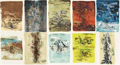Zao Wou-Ki 趙無極, 'La Tentation de l'Occident - Illustrated with 10 original lithographs by Zao Wou-Ki', 1962