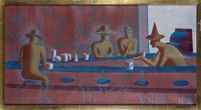Mark Kostabi, 'Blue Line Cafe', 1990