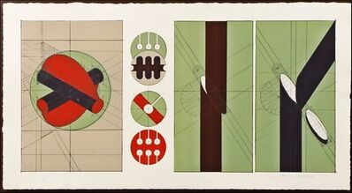 Arnaldo Pomodoro, 'Untitled Geometric Abstraction (Framed) ', 1970