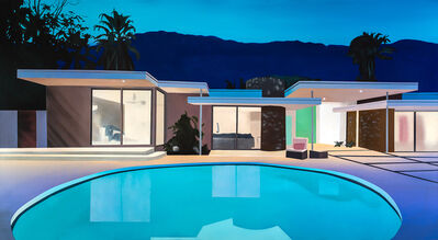 Laurence Jones, 'After Sunset (Round Pool House)', 2021