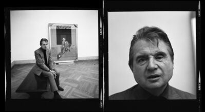 Harry Benson, 'Francis Bacon at the Metropolitan Museum of Art (Diptych), New York', 1975