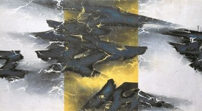 Liu Kuo-sung 刘国松, 'Yellow in the very Middle 黃居正中', 1995