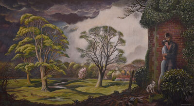 Douglas Percy Bliss, 'Lovers sheltering from a storm', 1936