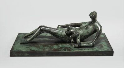 Henry Moore, 'Reclining Mother and Child IV', 1979
