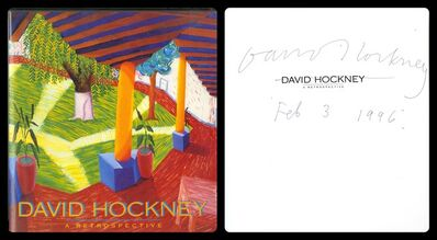 David Hockney, 'David Hockney: A Retrospective (Signed and Dated)', 1988
